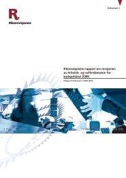 Riksrevisjonens rapport om revisjonen av Arbeids- og velferdsetaten ...