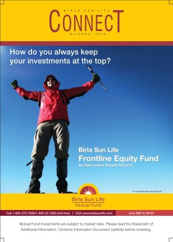 Connect for the Month of November 2010 - Birla Sun Life Mutual Fund