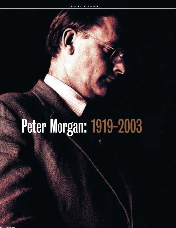 Peter Morgan: 1919-2003