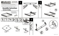 Assembly Instructions - Euro-Rite Cabinets