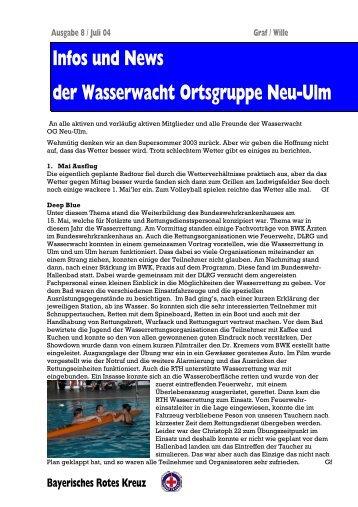 Infos und News 8 - Wasserwacht Ortsgruppe Neu-Ulm