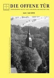 DIE OFFENE TÜR - Juni / Juli 2010 - Wilsdruffer Kirchen Im Netz