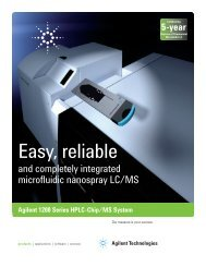 Agilent 1200 Series HPLC-Chip/MS System – Easy ... - T.E.A.M.