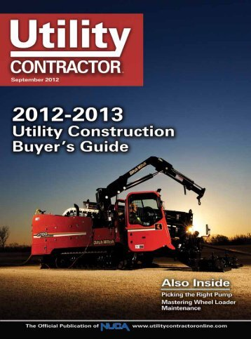 View Full September PDF Issue - Utility Contractor Online