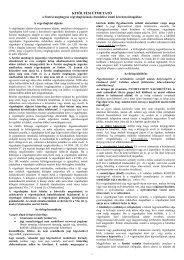FONTOS TUDNIVALÓK - Magyar Országos Közjegyzői Kamara