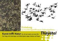 Kunst trifft Natur SA, 28. Juni 2008, um 20:00 Uhr - Thayatal.