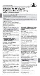 Cetirizin AL 10 mg/ml - Aliud Pharma GmbH & Co. KG