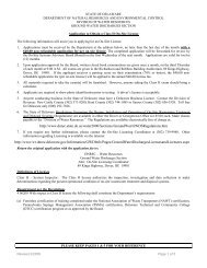 Application - Delaware Department of Natural Resources and ...