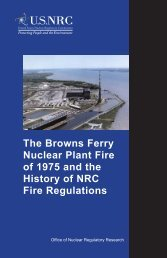The Browns Ferry Nuclear Plant Fire of 1975 and the History of NRC ...