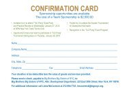 CONFIRMATION CARD - Big Brothers Big Sisters of New York City