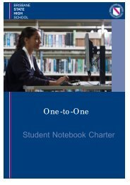 One-to-One Student Notebook Charter - Brisbane State High School