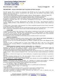 NOTA INFORMATIVA n. 7-2006 - Gruppo Lavoro Micotossine