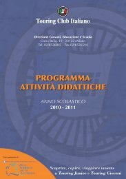 PROGRAMMA ATTIVITÀ DIDATTICHE - Touring Club Italiano