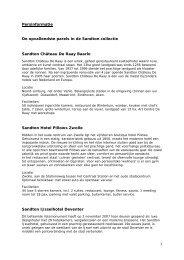 1 Persinformatie De opvallendste parels in de ... - Sandton Hotels
