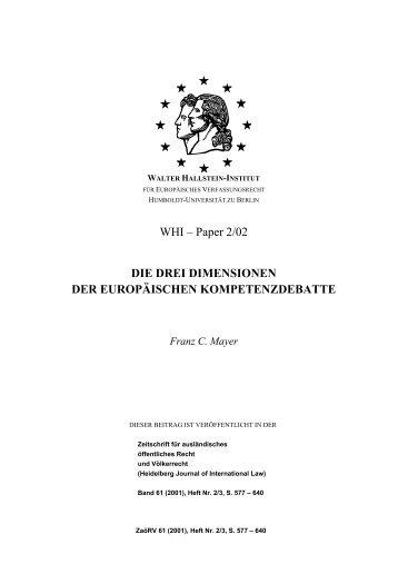 WHI – Paper 2/02 DIE DREI DIMENSIONEN DER ... - WHI-Berlin