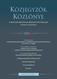 Közjegyzők közlönye 2012. 5. szám - Magyar Országos Közjegyzői ...