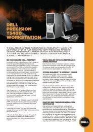 dell PreciSion™ t5400 workStation