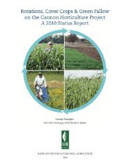 Rotations, Cover Crops, and Green Fallow on the ... - Kerr Center