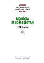 BIOLÓGIA ÉS EGÉSZSÉGTAN - Mozaik Kiadó