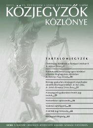 Közjegyzők közlönye 2011. 5. szám - Magyar Országos Közjegyzői ...
