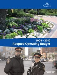 2008 – 2010 Adopted Operating Budget - City of Winnipeg