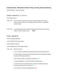 2010 ArLA/SELA Tentative Schedule Saturday - the Arkansas ...