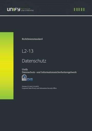"""Richtlinie """"Datenschutz"""" - Unify"""