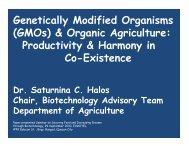 Organic Agriculture - DA Biotech Program