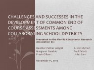 Challenges and Successes in the Development of Common ... - FERA
