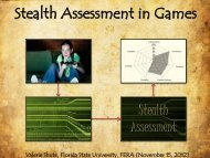 Stealth Assessment in Games - FERA