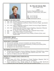 Dr. Marcela Selecká, PhD.