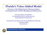 Florida's Value-Added Model - Florida Educational Research - FERA