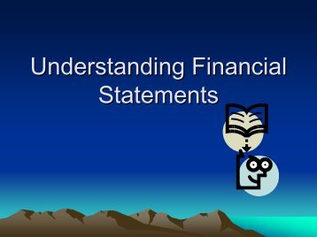 Understanding Financial Statements - Deh Cho Business ...