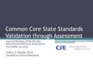 Common Core State Standards Validation through ... - FERA