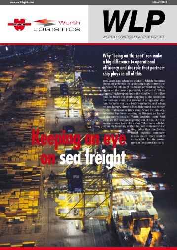 WLP Keeping an eye on sea freight Why - e.wurth-logistics.com ...