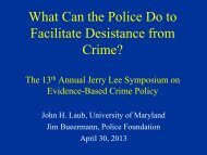 What Can the Police Do to Facilitate Desistance from Crime?