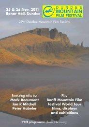 MOUNTAIN - Dundee Mountain Film Festival