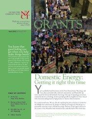 April 2012 Newsletter - The New York Community Trust