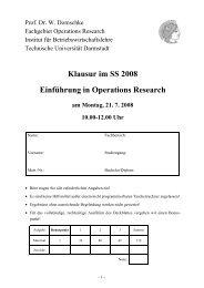 Klausur im SS 2008 Einführung in Operations Research am Montag ...