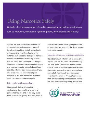 Using Narcotics Safely - Caring Connections