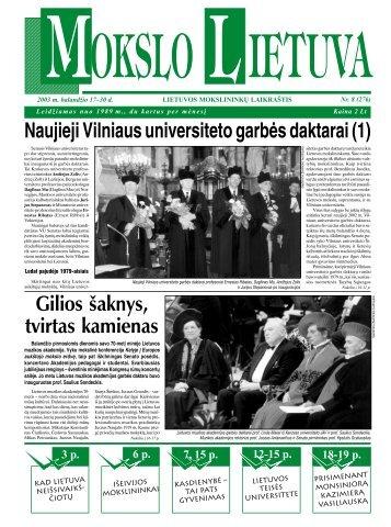 Naujieji Vilniaus universiteto garbės daktarai (1 ... - MOKSLAS plius