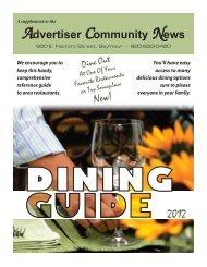 2012 Dining Guide - Advertiser Community News