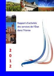 rapport 2012 des services Etat Yonne - 5,38 Mb - Préfecture de l ...