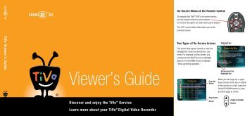 Cover and Table of Contents - TiVo