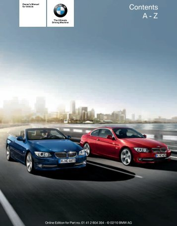 2011 3 series owner s manual without idrive irvine bmw rh yumpu com BMW 3 Series Engine Diagram 2011 bmw 3 series service manual