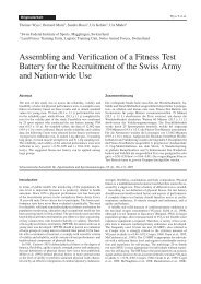Assembling and Verification of a Fitness Test Battery for the ... - CISM