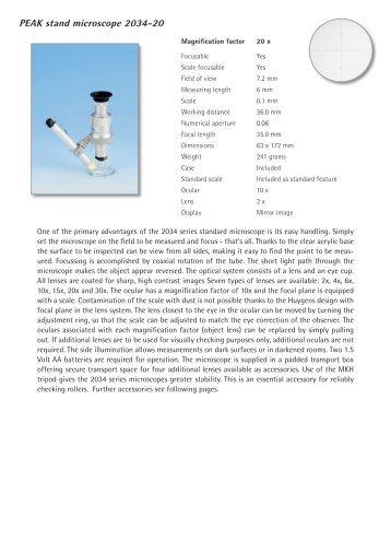 PEAK stand microscope 2034-20