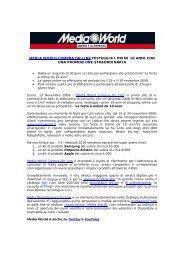 MEDIA WORLD COMPRA ON LINE FESTEGGIA I PRIMI 10 ANNI ...