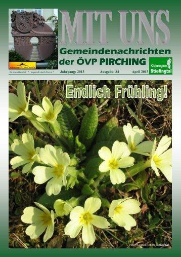 MIT UNS April 2013 - in der Gemeinde Pirching/Traubenberg