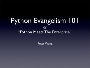 Python Evangelism 101
